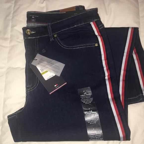 b9c653a7 Tommy Hilfiger Jeans | Hilfiger Sidestripe Skinny | Poshmark